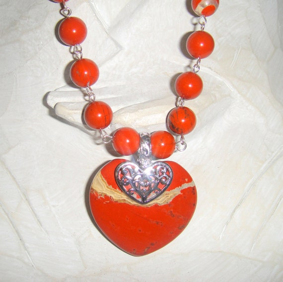 A Good Stone           (Red River Jasper Heart Necklace)