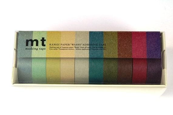 MT Washi Masking Tape -  Dark Pastel 10 Pack
