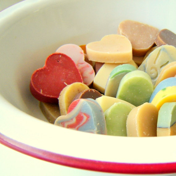 DIY Wedding favors - 50 Heart Shaped Soaps - Bridal Shower Favor