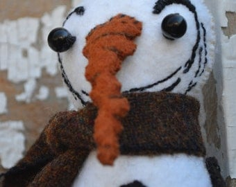 Snowman, carrot nose, Christmas, Winter, Plush