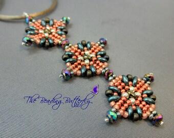 Aztec Sun Pendant & Earrings Tutorial - Pattern for Twin or Duo - Digital Download