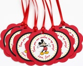 Mickey Mouse Birthday Party - Set of 24 Favor Tags