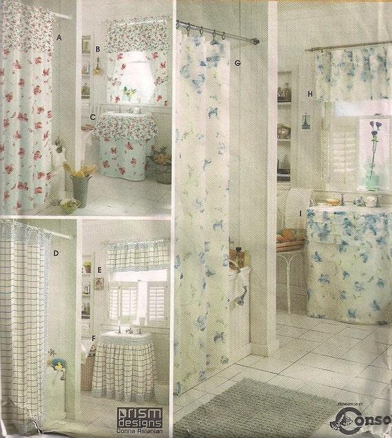 Bathroom Accessories shower curtain sink skirt by FrazzledThreads