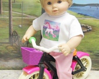 Unicorn Play Outfit for Bitty Baby Doll
