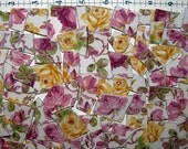 Pink & Yellow Roses - Shabby Chic Broken China for Mosaic Tile Art or Jewelry making