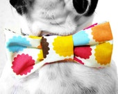 Dog Collar Bow Tie-Multi Floral