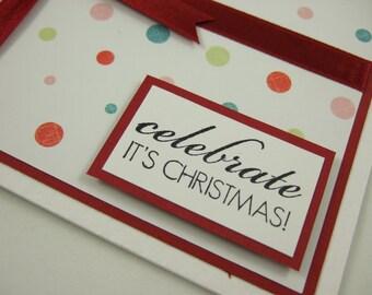SALE - Present Christmas Card - Celebrate It's Christmas