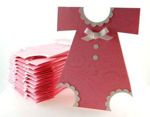 30 Pink Baby Shower Invitation Cards