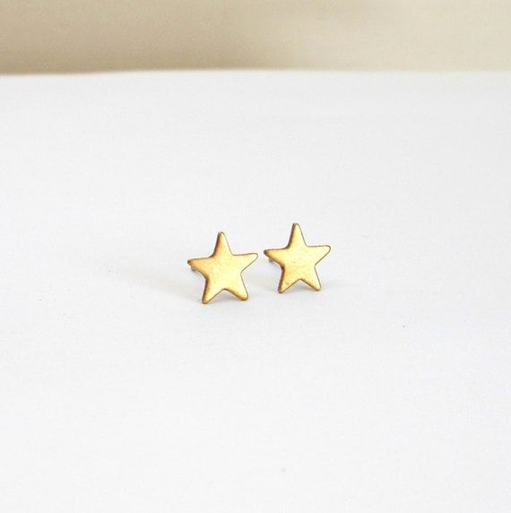 Star earrings small star stud post earings stellar outer space jewelry