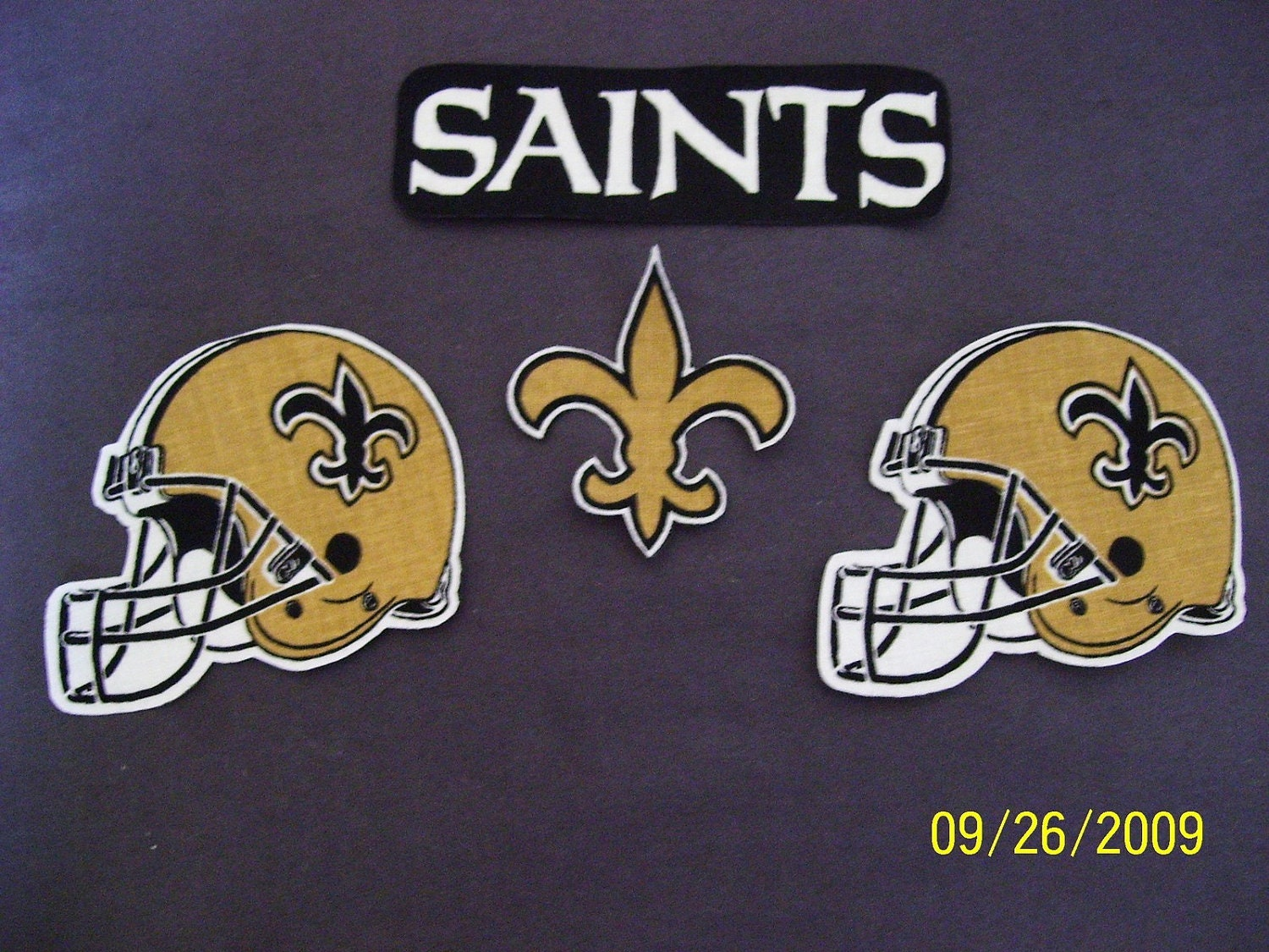 NFL New Orleans SAINTS Iron On Patch Applique by CrazyforBetty