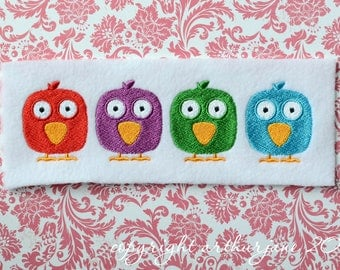 Four Birds, INSTANT DIGITAL DOWNLOAD, Embroidery Design for Machine Embroidery 5x7
