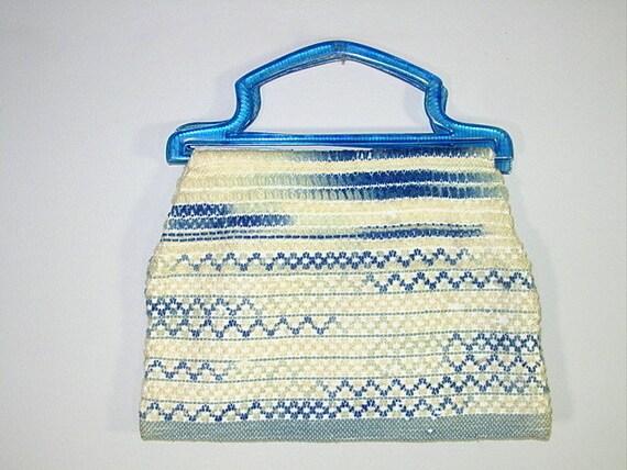 ON HOLD for Lea---Vintage Embroidered Carpet Bag