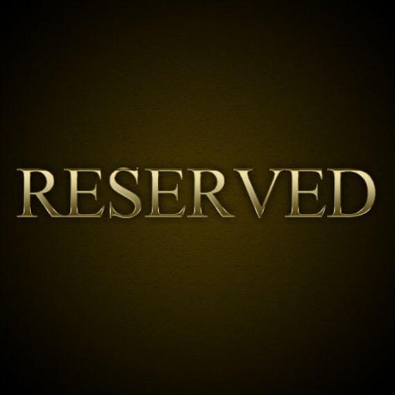 Reserved for Johnna