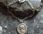 Janus Bracelet with Handmade Sterling Silver Links