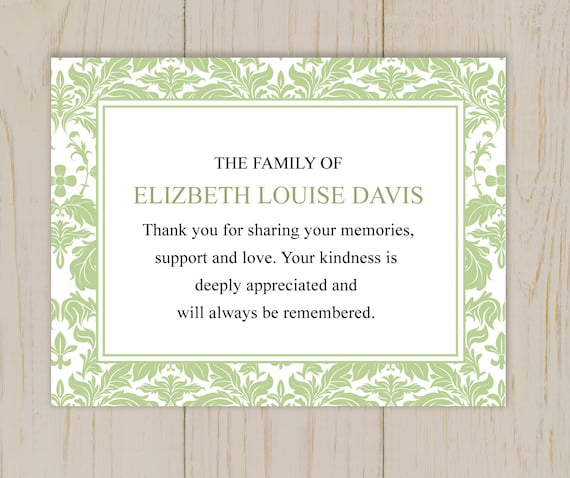 Thank You Note After Funeral Messages