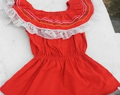 Little Red Latin American Embroidered Baby Dress