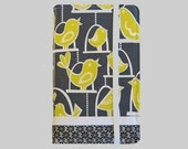 Kindle Cover Hardcover, Kindle Case, eReader, Kobo, Kindle Voyage, Kindle Fire HD 6 7, Kindle Paperwhite, Nook GlowLight Yellow Birds