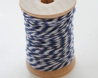 Baker's Twine - 20 Yards - Midnight - Navy - 4 Ply Twine on Wooden Spool