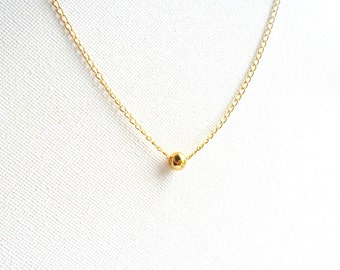 Simple Gold Necklace, 14K gold chain,  everyday simple jewelry, minimalist, under 30