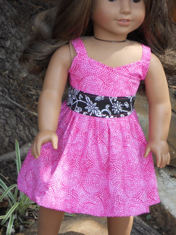 18 Inch American Girl Doll Clothes Summer Tea Wrap Top Dress Ready to Ship