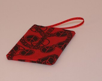 Red Peace Sign Gift Card Holder (GCO89)