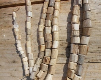 Deer Antler Beads- Your Choice of Size