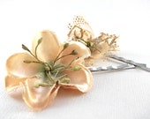 Amber Flower Hair Pins