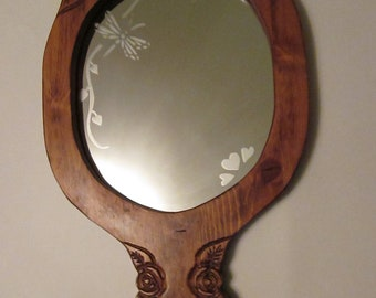 mirror with etching