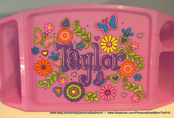 Personalized Lap desk - tv tray - Butterfly, Flowers, Owls, Girly