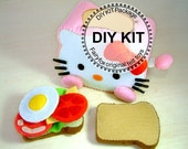 Felt toys, play food,felt Toaster and breakfast,--K-T03
