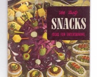 Vintage 1949 Snacks Cookbook