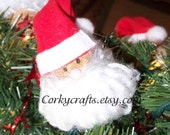 St. Nicolas/ Santa Claus wine cork Christmas tree ornament/bottle tags/gift tags