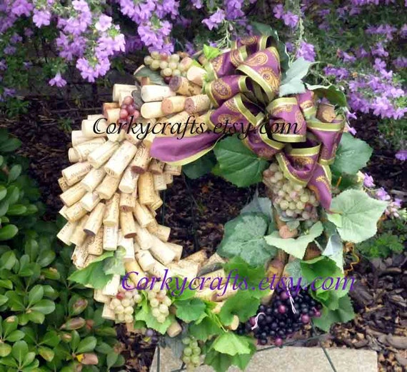Wine Harvest  wine cork wreath