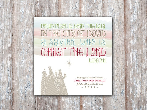 Printable DIY Three Kings Christmas Card Holiday Greeting