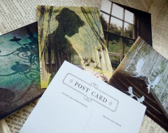 Green Woodland Fairy Tale Postcard Set