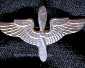WW2 US Army Air Corps PILOT WINGS sweetheart metal pin 1 n qtr in