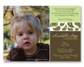 """Adoption Announcement - """"Paisley"""" - an adoption announcement for kids or babies (No. 13008)"""