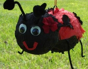 Super Cute Flowering LadyBug Pinata - Birthday, Shower, Summer, Party, Event
