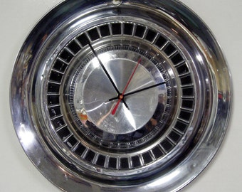 1956 Pontiac Hubcap Clock - Catalina, Star Chief, Safari, Station Wagon Wall Clock - Retro Vintage Decor - Back to School