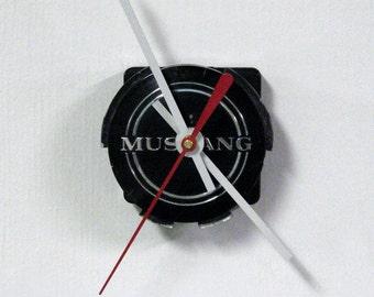 Mustang Wall Clock - 1965 Ford Mustang Center Cap Clock - Mini Clock
