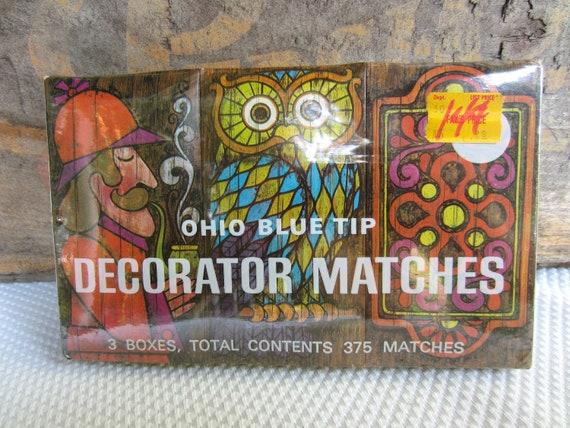 Vintage 1970 Ohio Blue Tip Matches Retro 3 Box Set