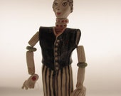 The CirCuS  mAn------- Ceramic Marionette---Holiday gift