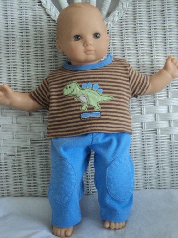 Bitty baby Boy 2 pc dinosaur appliqued    Outfit