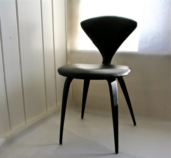 Vintage Norman Cherner Plycraft Chair Rare Black Cover