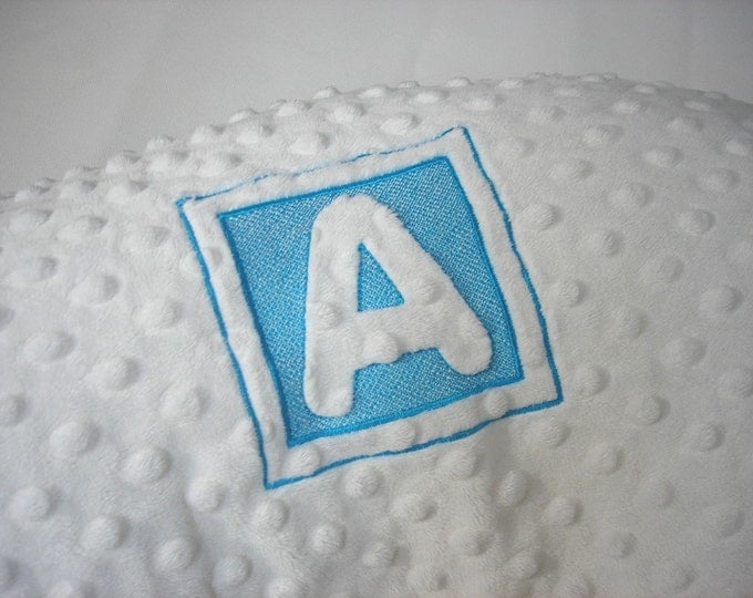 Personalized Boppy Pillow Cover Nursing Pillow with Embossed Letter