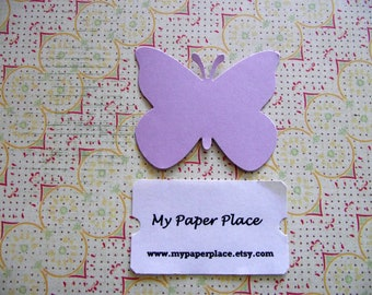 50 Lilac  Butterfly Die Cuts- 2 inch cardstock-  Free Secondary Shipping