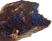 Rough Azurite Stone Specimen, Blue Rock, Druzy Formation, From Democratic Republic of the Cong (Zaire) - DumbBunnyDesigns