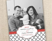 Merry Everything Happy Always One Picture Card Design (4x6 or 5x7).  Other color options possible.