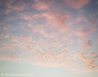 Cloud Photo - Cannon Beach, Oregon, Coastal, Holiday, Summer, Pink Sky, Travel Photograph, Home Decor, Wall Art