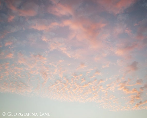 Cloud Photo - Cannon Beach, Oregon, Coastal, Holiday, Summer, Pink Sky, Travel Photograph, Home Decor, Wall Art